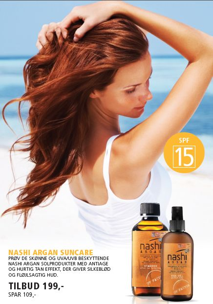 Nashi Argan sun protect for hair and body. www.lifeandliving.dk