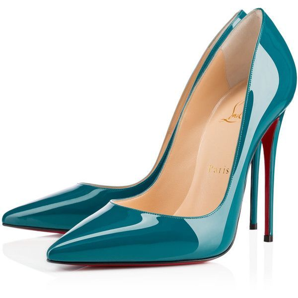 Christian Louboutin So Kate ($675) ❤ liked on Polyvore featuring shoes, pumps, heels, christian louboutin, louboutin, curacao, sexy pumps, patent pumps, heels stilettos and pointed-toe pumps