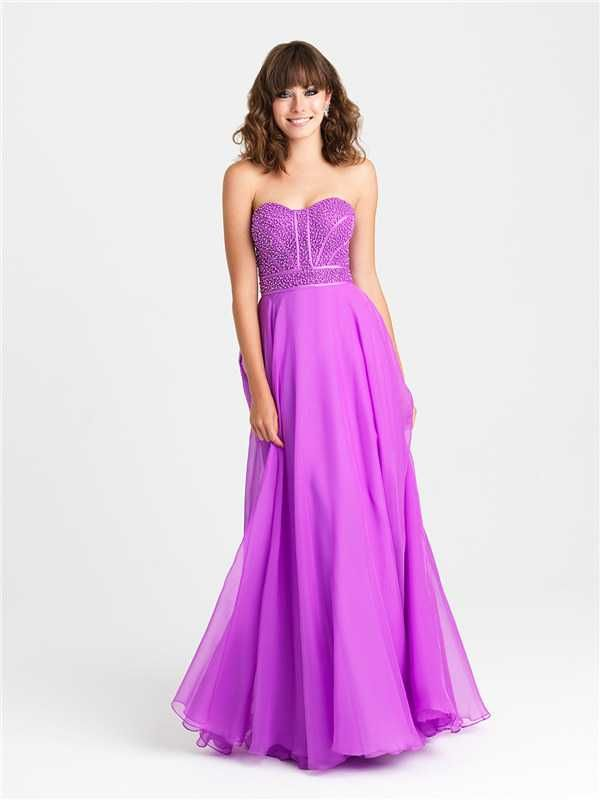 Dazzling Beaded Long Prom Dresses by Madison James 16-313 2017