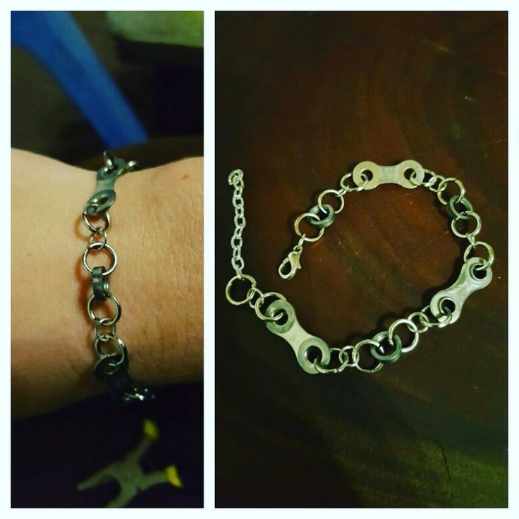 Loving my latest bicycle chain bangle!! #BicycleArtByAnn