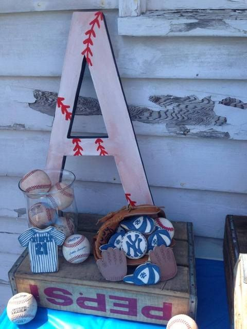 Great decorations for a Vintage Baseball Birthday Party! See more party ideas at CatchMyParty.com!