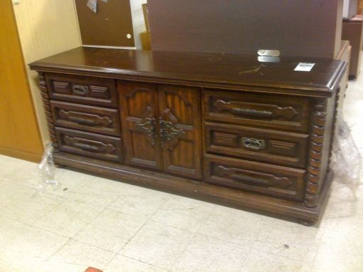 Before and After: A Goodwill Find Used as Television Console