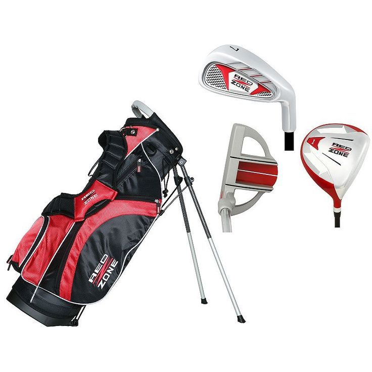 Merchants of Golf Red Zone Jr. 3-Club Right Hand Golf Club and Bag Set - Youth