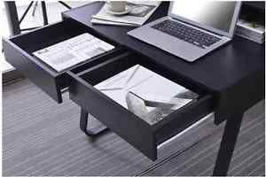 Black Modern Small Computer Desk PC Workstation Home Office furniture Table NEW