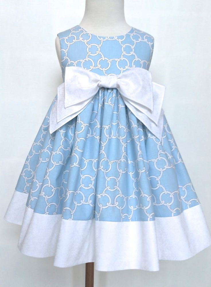Girls Dress Toddler Dress Molly Light Blue and by 8thDayStudio, $49.00