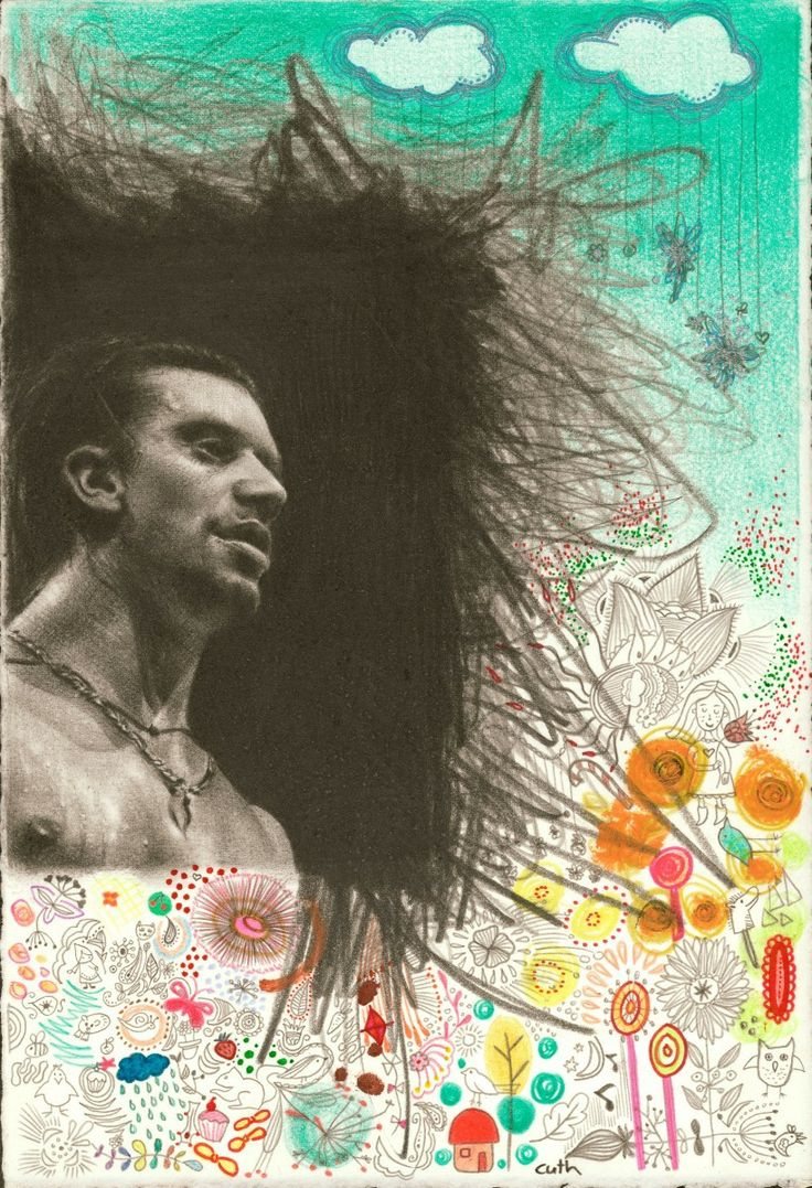 "Contemporary Drawing - ""When The Stars Begin To Fall"" (Original Art from Emese Cuth) #mikepatton"