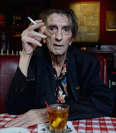 Credit: Michael Buckner/Getty Images Actor Harry Dean Stanton poses for a portrait for the film Harry Dean Stanton: Partly Fiction at Dan Tana's Restaurant in West Hollywood, California