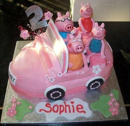 Peppa Pig Family  Cake by SuzyF