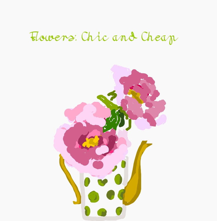 #flowers #cover #book #impressed #inspired #pink #green #gold #illustration #interior design #digital  impressed by cover of floral book:  http://www.amazon.com/Flowers-Chic-Cheap-Arrangements-Backyard/dp/0307587983