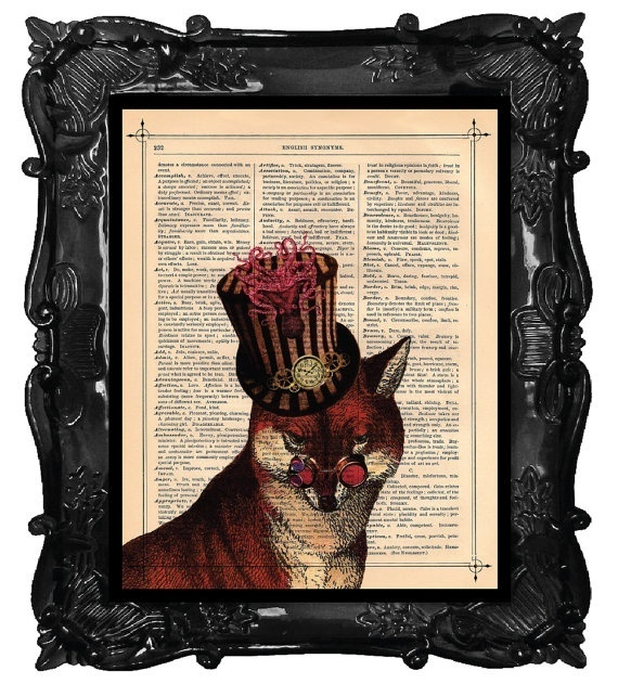 Art on old book pages- cool cool cool!