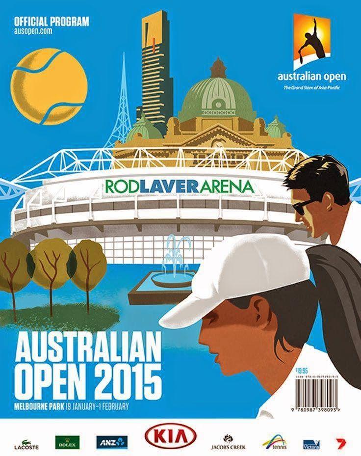 網球場的路上。toward the tennis court: 2015澳網特刊 - Australian Open official program, 2015