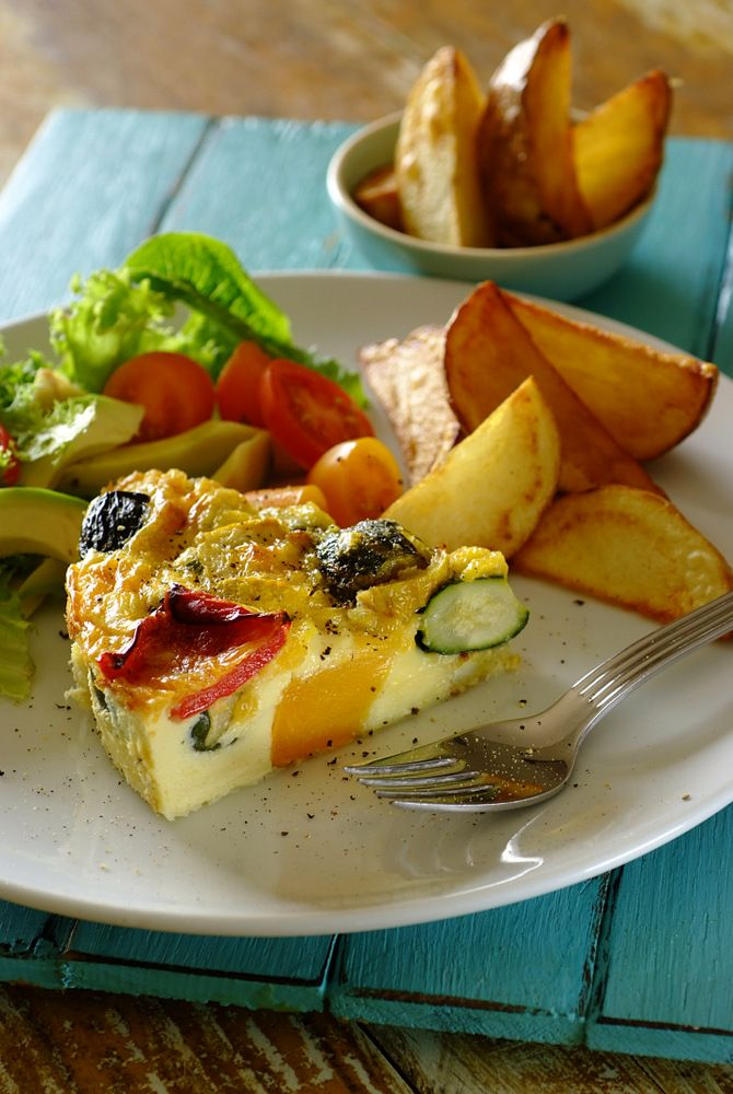 #Easter Treat: Baked Vegetable & Cheese Frittata #Knorr #Vegetarian