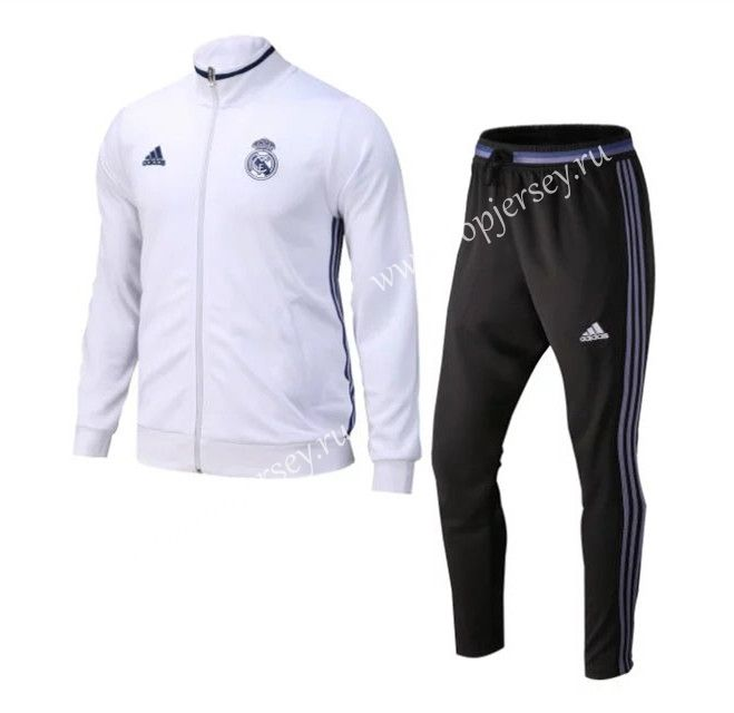 Cheap soccer jersey from topjersey 2016-17 Real Madrid White Thailand Soccer Jacket Uniform-Real Madrid| topjersey