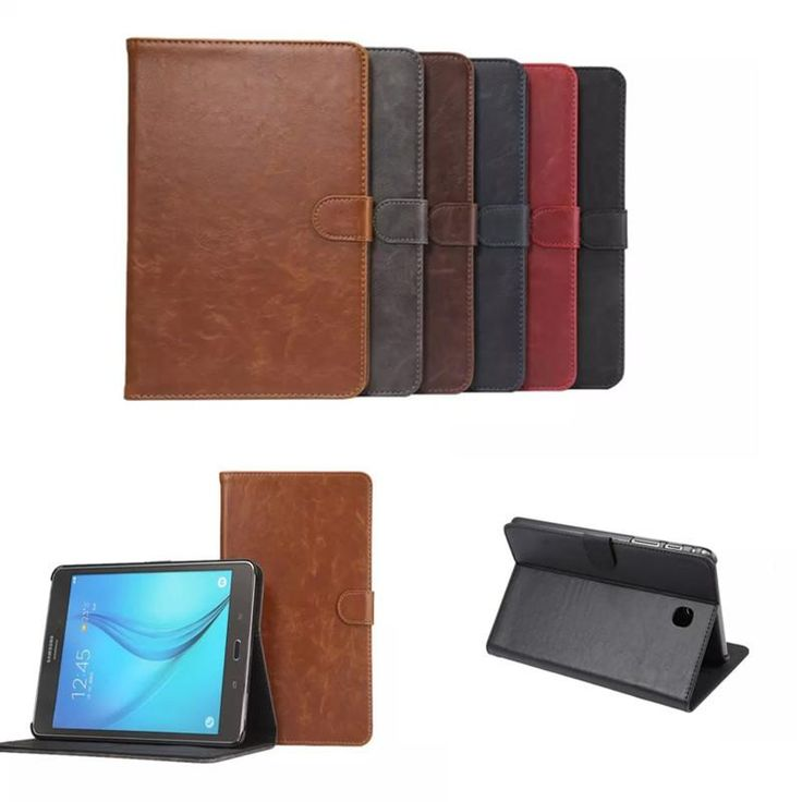 [Visit to Buy] DS Crazy PU Leather Stand Case with Card Slot for Samsung Galaxy Tab A 8.0 T350 T355C T355  sm-t355 P350 P355C 8'' Tablet Case #Advertisement