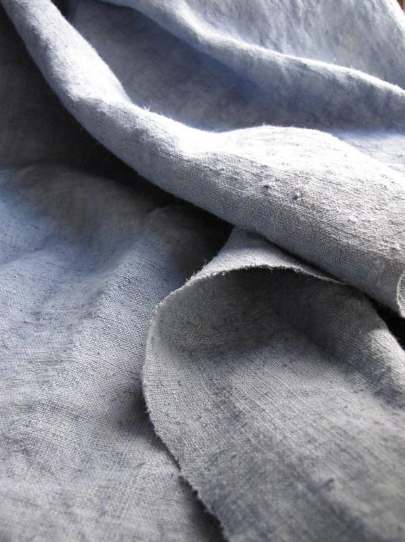 Pale grey linen.Perfect.  www.catesbys.co.uk