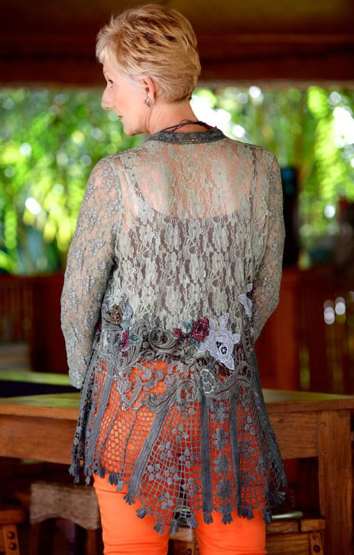 Vernon – Lace Heirloom Jacket. Perfect for all occasions, allowing you to create your own look. Mix and Match – Excellent. $113.00 #lace #jacket #fashion