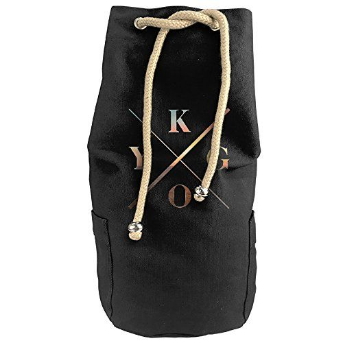 DAFA Unisex Vertical Bucket Cylindrical Shaped Canvas Drawstring Sports Basketball Shoulders Backpack Bags---Kygo Logo Music -- Read more info by clicking the link on the image. #GymBags