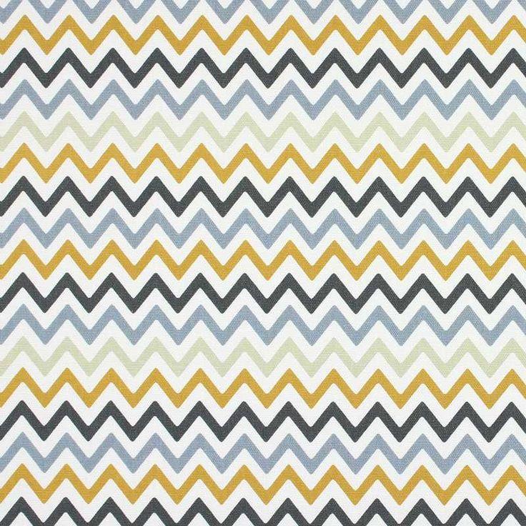 Warwick Fabrics : ZAG ZIG SAFFRON