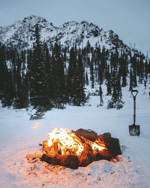 Nightfall on Gallagher Lake, Washington. Winter, we're ready for you...