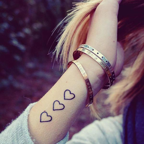 Wrist Bracelet Tattoo With Images Small Heart Tattoos Wrist