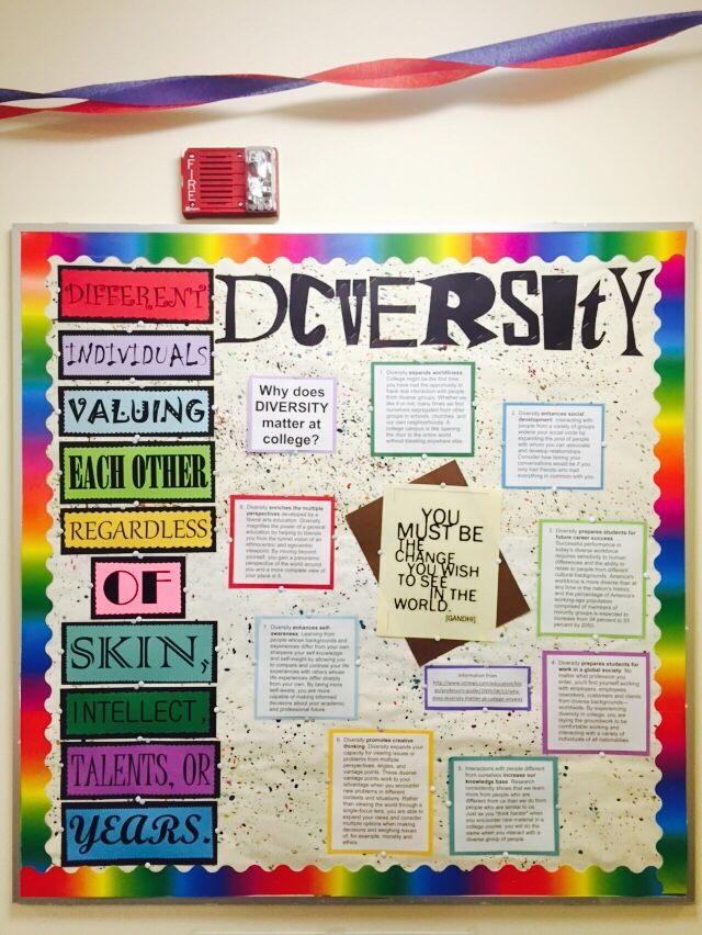 My bulletin board this month over diversity. The ...