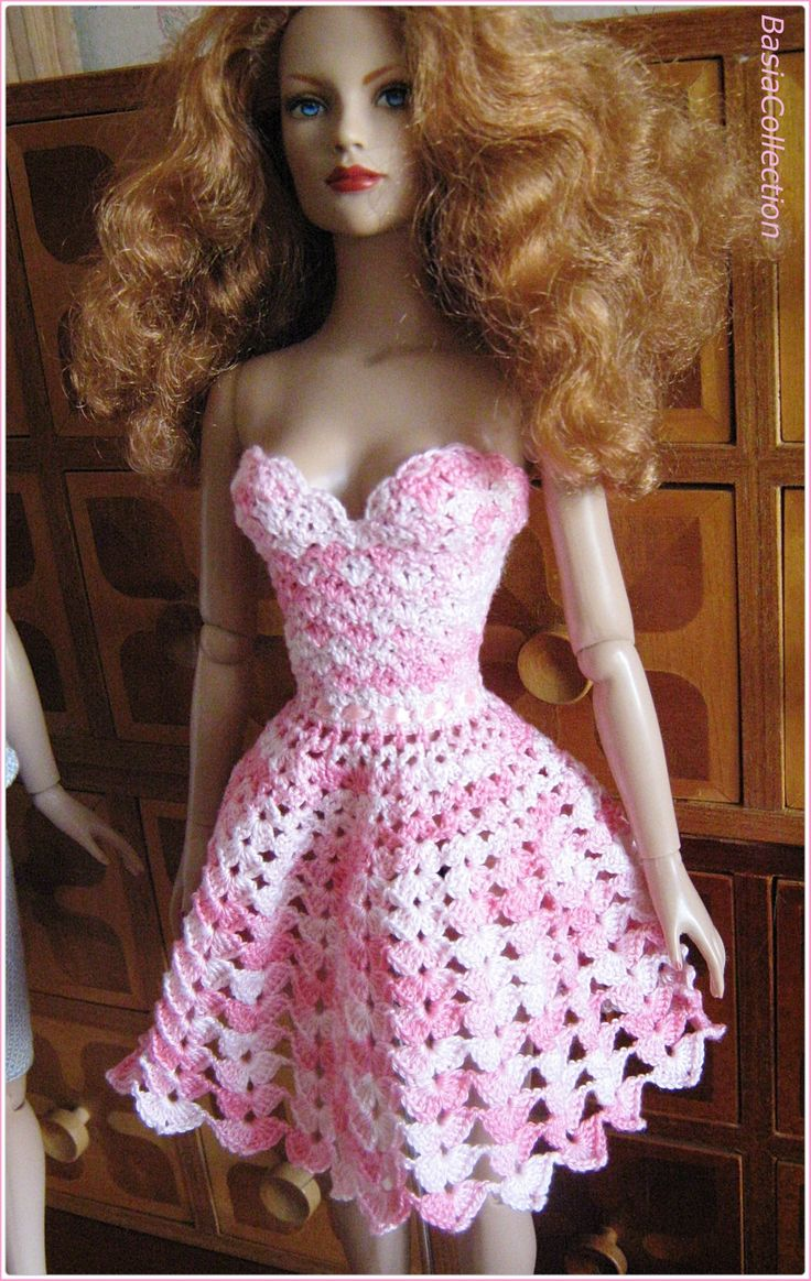 Pink dress made by BasiaCollection.