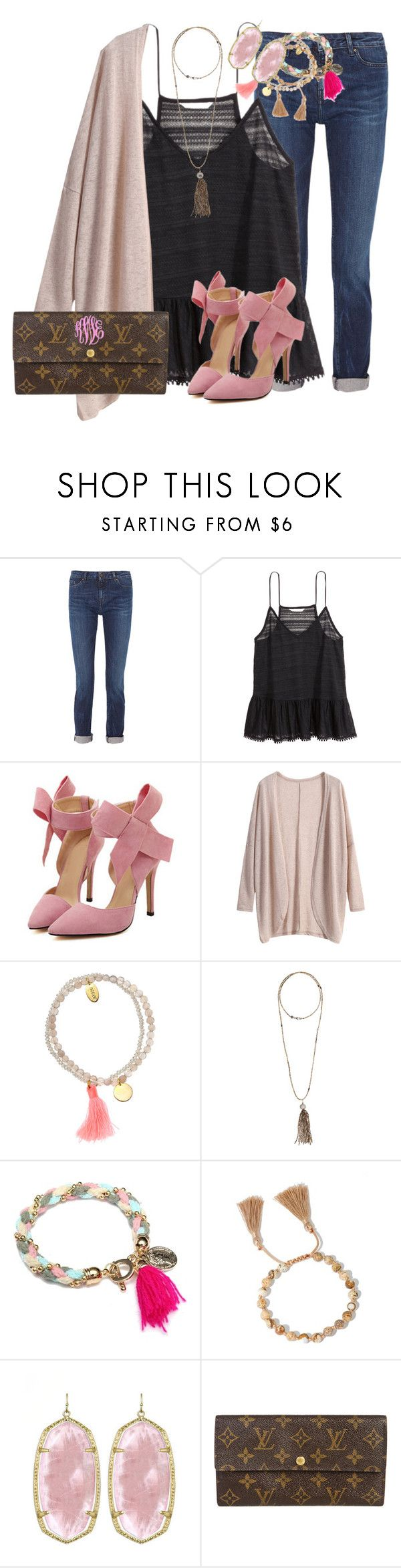 """""""the insta """"4whitepeople"""" cracks me up"""" by thefashionbyem ❤ liked on Polyvore featuring Karl Lagerfeld, H&M, Jigsaw, Bettina Duncan, Kendra Scott and Louis Vuitton"""