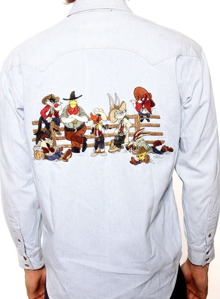Vintage looney tunes denim shirts like this