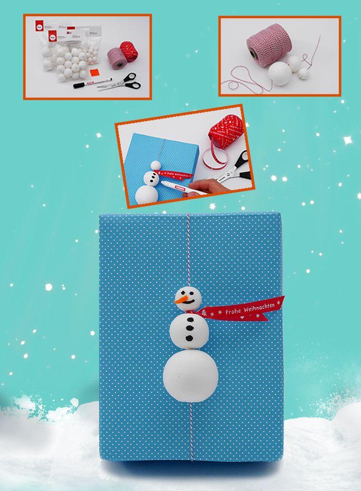 Coole Geschenke, coole Verpackung. Nicht nur der Inhalt sollte den Beschenkten gefallen, sondern auch das Äußere spielt eine große Rolle. Dieser tolle Schneemann ist nicht nur ein Hingucker, sondern kann nach dem Auspacken noch als winterliche Dekoration verwendet werden.