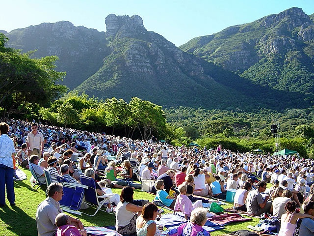 Kirstenbosch Summer Sunset Concerts are a wondeful way to spend a Sunday evening in Cape Town. All music lovers are catered for in the open-air amphitheatre from rock, jazz and big band Swing. Bring your friends and family and enjoy the Cape Philharmonic Orchestra in the breathtaking setting of the botanical gardens with a picnic and a bottle of wine.