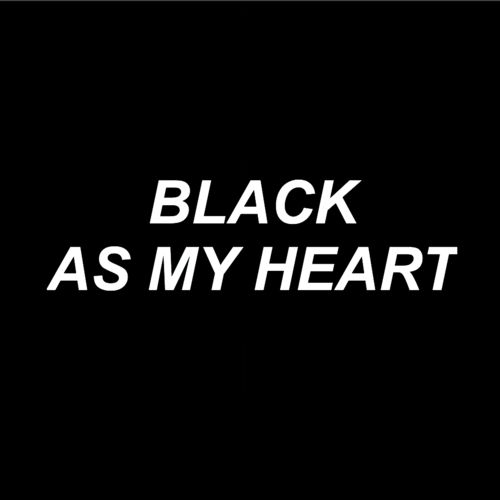 black, heart, and grunge image