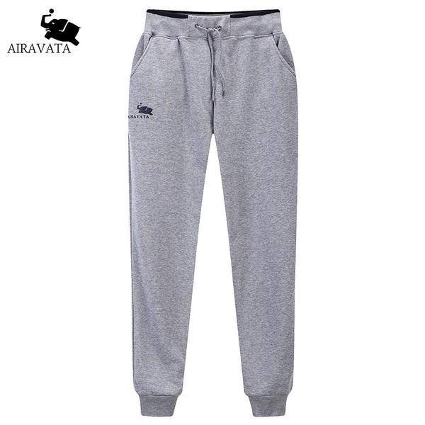 Men's Fleece Sweatpants Elastic Waist Warm Pants Winter Fleece Pants Men Patchworked Pants With Zip Pockets Autumn