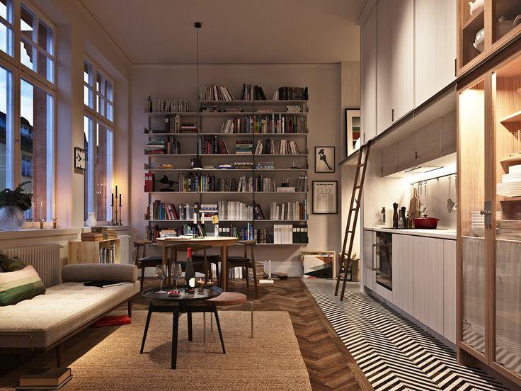 Biblioteket N°5 by Glommen & Lindberg Luxurious apartments in Östermalm, Stockholm, the project is an conversion of an old school.   Architect: Jägnefält Milton Design: Mats Theselius