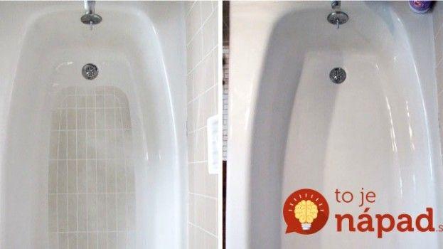 Neznášate drhnutie vane od vodného kameňa a usadenín? Vyskúšajte tento trik, funguje skvele a vane sa nemusíte ani dotknúť!