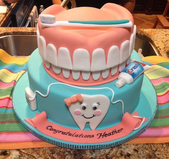 A cake fitting for a Dentist