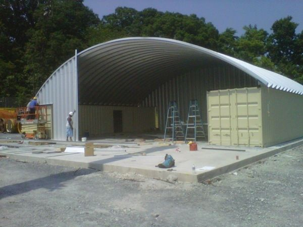 Box Truss Carport : Best images about quonset hut homes on pinterest