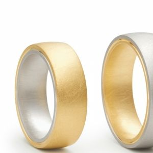 Wedding Ring Niessing Tango. Two contrasting metals join in an intimate union. Available from www.davidsonjewels.com