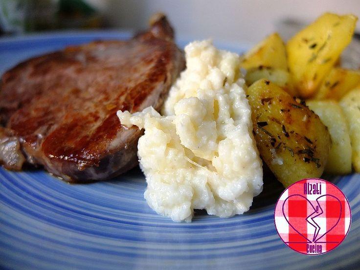 Filetto di manzo con purè di cavolfiore e patate saporite (la storia di Umberto)