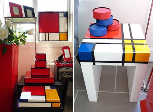 Mondrian like decoration idealand pinterest mondrian for Dixversion meuble