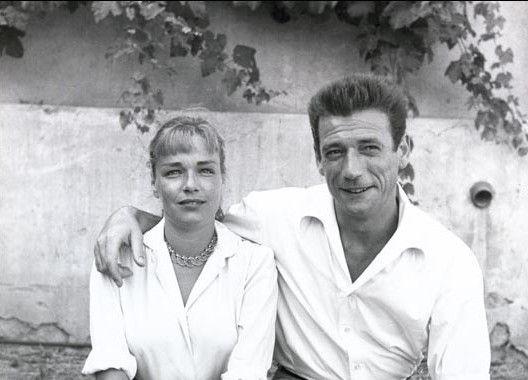 Simone Signoret et Yves Montand à Saint-Paul-de-Vence