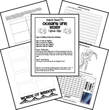 Ocean unit study and lapbook (the whole site is a great homeschool resource!)