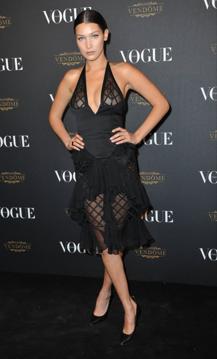 Bella Hadid at the Vogue 95th Anniversary Party, Paris (3 October, 2015)