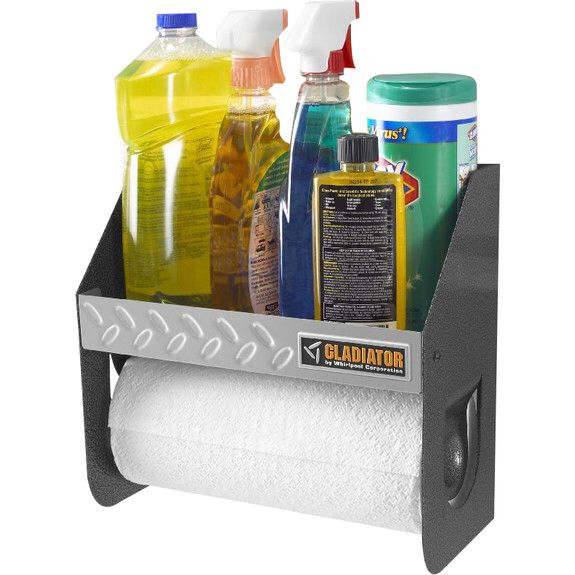 "12"" W x 6.5"" D Steel Clean-Up Caddy Garage Storage for GearTrack or GearWall"