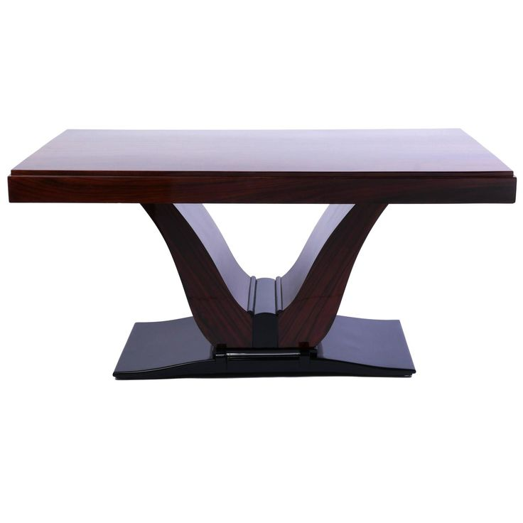 Magnificent French Art Deco Rosewood Dining Table