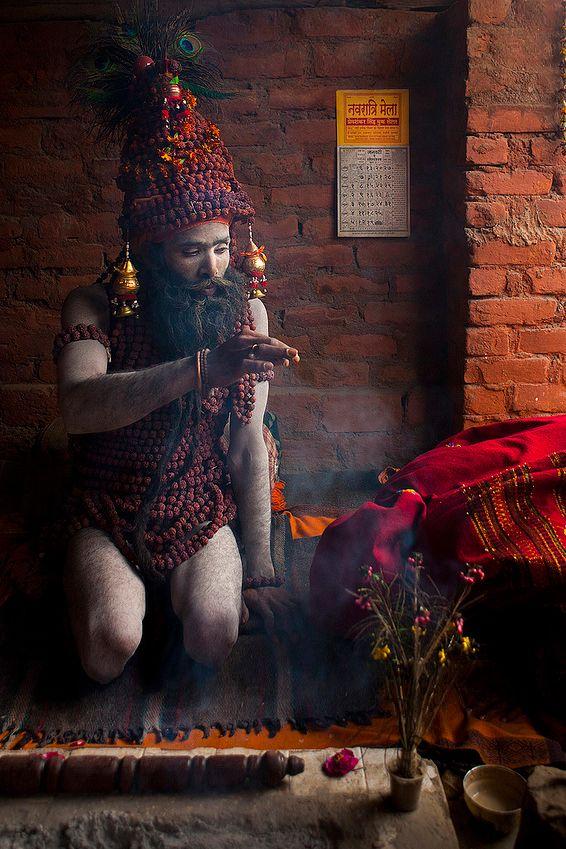 Naga Sadhu Blessings - Maha Kumbh Mela, Allahabad, India