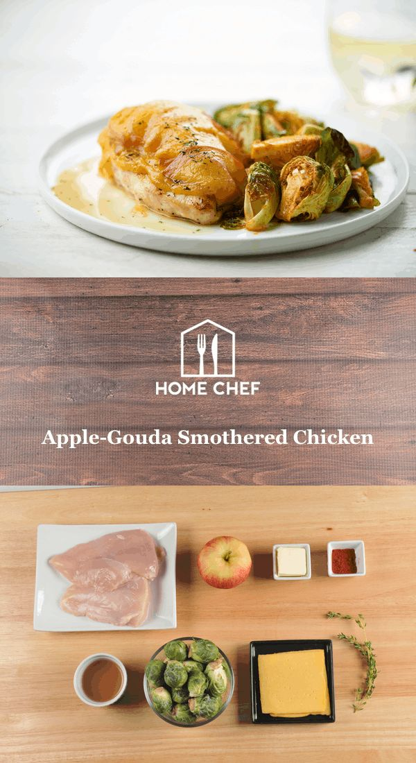 """""""Smother,"""" in other contexts, usually doesn't mean good things: a stage mother whispering lines backstage at their frightened child, or a boyfriend calling every ten minutes to make sure you're still by the phone. But smothering a chicken breast with tart apples andGouda, giving every bite a rich, unforgettable flavor… That's the kind of smothering mother, child, and boyfriend can get behind."""