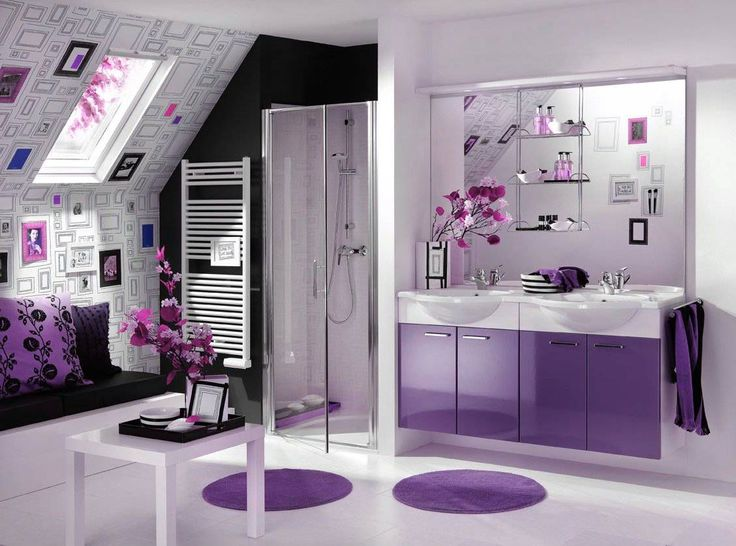 bathroom purple bathroom design for chic and cute bathing moment modern elegant purple bathroom