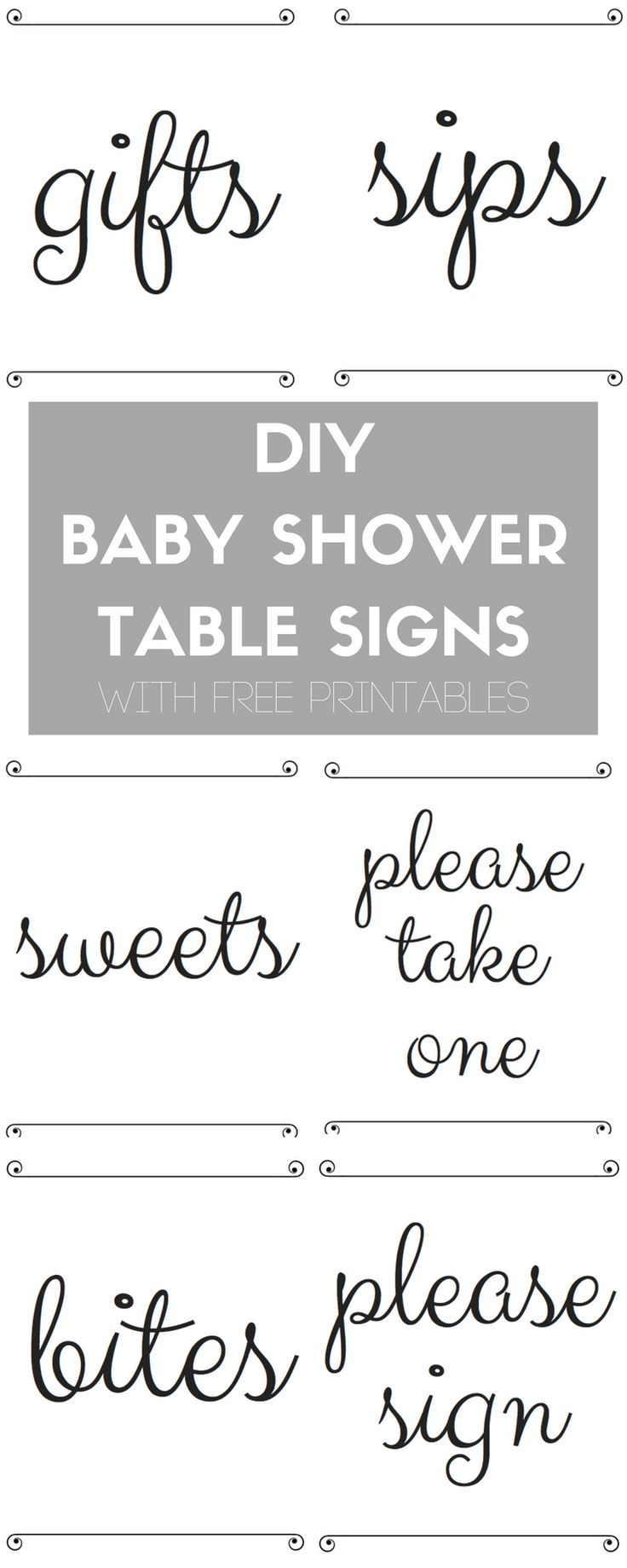 DIY BABY SHOWER TABLE SIGNS FREE PRINTABLE #ad #superabsorbent