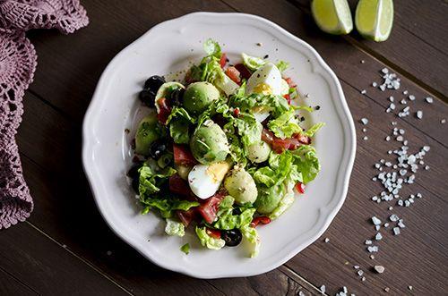 Avocado, cilantro, tomatoes salad recipe
