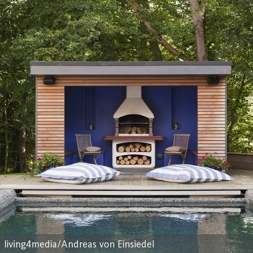 Inspirational Auf den gro en Outdoor Kissen am Pool l sst es sich gem tlich nach dem Schwimmen ausspannen